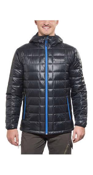 Columbia Trask Mountain 650 TurboDown Hooded Jacket Men black/hyper blue